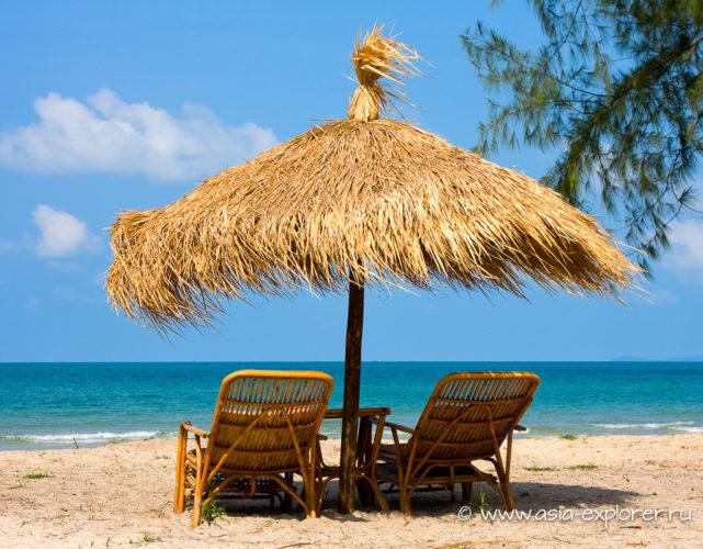 Тропический пляж в Камбодже