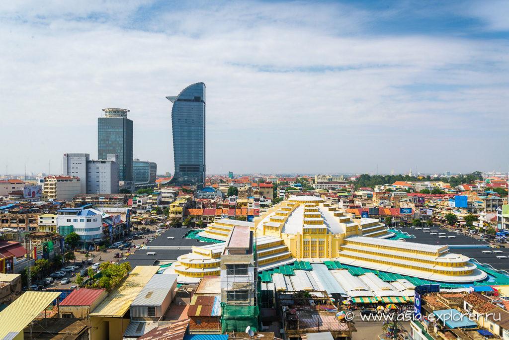 Центр города Пном Пень в Камбодже