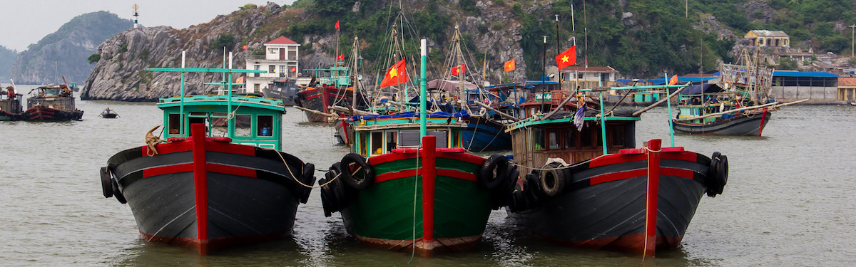 Корабли в бухте Халонг. Вьетнам